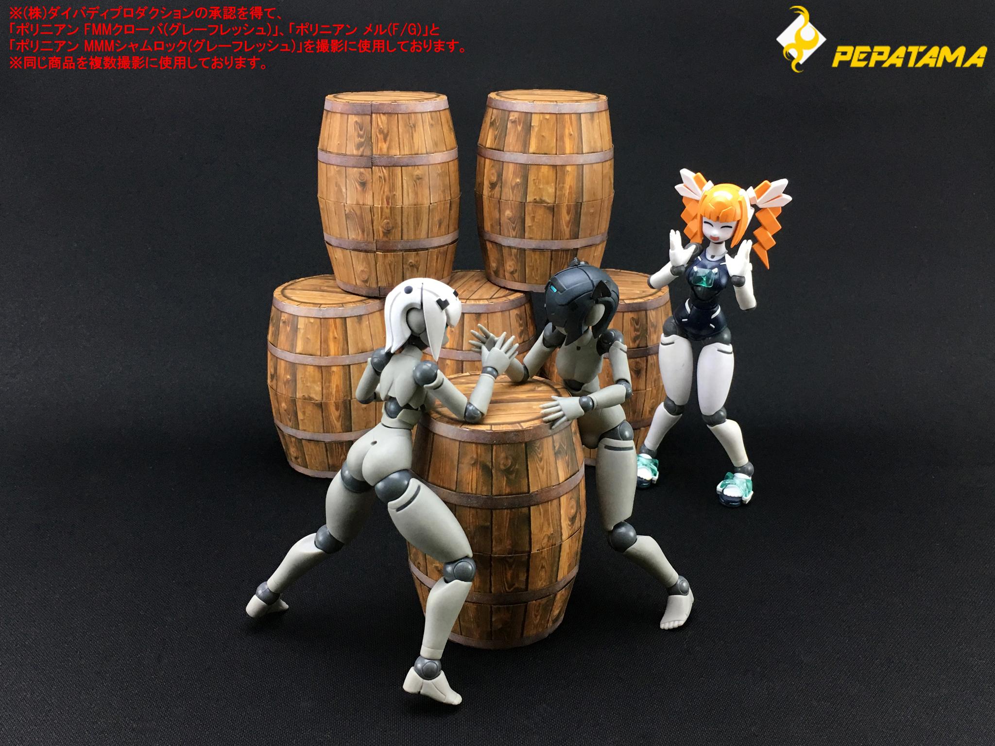 【可動フィギュア用に】「樽」「パレットA」「SF地面」ペパクラ 【予約開始】